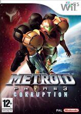 Metroid Prime 3 Corruption Nintendo Wii * NEW SEALED PAL *