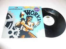"2 UNLIMITED - Workaholic - Deleted 1992 UK 3-track 12"" vinyl single"