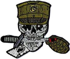 U.S. MARINES - SKULL with GRANADE - IRON-ON PATCH