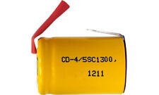 10-Pack 4/5 Sub C 1300 mAh NiCd Battery w/ Tabs