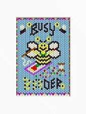 Busy 'Bee'Der Pony Bead Banner Pdf Pattern Only