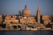 808007 Valletta de Sliema Bay Malta A4 Foto Impresión