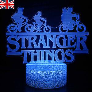 3D Acrylic Lamp Stranger Things Movie Logo LED Night Light Touch Table Lamp Gift