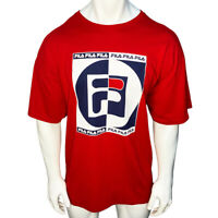NWT FILA AUTHENTIC MEN'S RED CREW NECK SHORT SLEEVE T-SHIRT SIZE 3XL