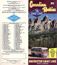 Canadian Rockies Vintage 1955 Gray Line Booklet Bus Tours Scenic Drives Photos