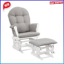 Windsor Glider Durable Baby Nursery Rocking Furniture Chair Glider /w Ottoman