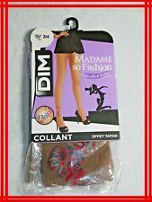 DIM MADAME SO FASHION Taille 3 - 4   Collant HALE effet TATOO tights strumpfhose
