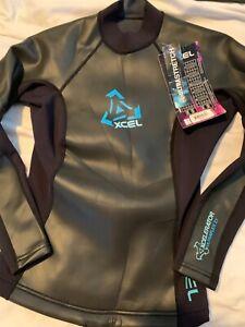 Xcel wetsuit women top 8 ULTRASTRETCH Surf,Swim,snorkel,dive Fitness Longsleeve