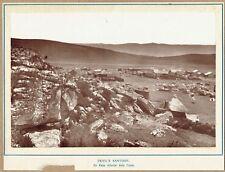 De Kaap Gold Fields, South Africa. Original 1890s albumen photograph