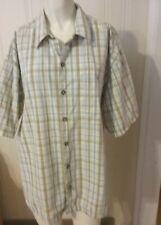 Men's High Sierra Shirt Plaid Button Down Multi Color Size Large Short Sleeve