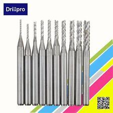 10pcs 1/8'' 0.8-3.175mm PCB Engraving Cutter Rotary CNC End Mill Drill Bit Bits