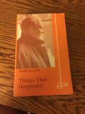 Things That Happened by Boris Slutsky (1998 Glas New Russian Writing)