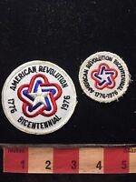 2 Sizes AMERICAN REVOLUTION BICENTENNIAL Patriotic USA Patch Lot S76I
