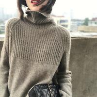Winter Cashmere Sweater Turtleneck Knitted Pullovers Women Warm Female Sweater