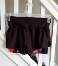 Women's Sz XS Champion Dark Plum Running Shorts W/Attached Short Leggings