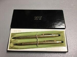 Vintage Cross Set No. 6601 12 KT Gold Filled Pen and Pencil Set in Orig Box!