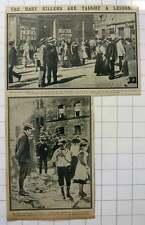 1915 Inhabitants Of Karlsruhe After Visit By Allied Airmen, Children Souvenirs
