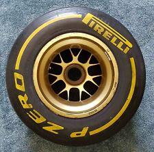 FORMULA 1 PIRELLI ORIGINAL GENUINE NEW TYRE & BBS WHEEL RIM P ZERO F1 FIA TAG