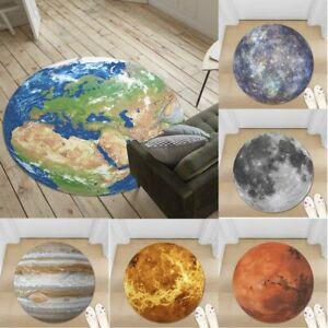 3D Earth Planet Non-slip Round Soft Area Rug Floor Carpet Door Mat Home Decor