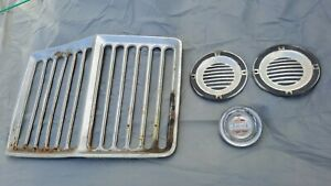 JEEP GLADIATOR / WAGONEER  RHINO GRILL / PIE PANS / HEADLIGHT DOORS BAD CHROME
