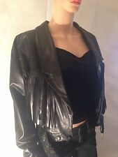 Leather Biker Jackets without Fastening for Women