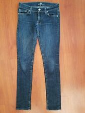 7 For All Mankind ROXANNE Skinny Jeans size 25 x 29 Embellished Pockets Stretch