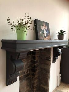 135Cm Victorian Style Joinery Grade Redwood Mantle Finished In Graphite
