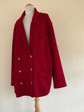 Caroll & Co. Beverly Hills 54 Italian 2X 3X Designer Wool DB Knit Sweater Jacket