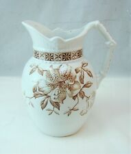 Johnson Bros England Aesthetic Movement FLORAL BROWN Pitcher Excellent Vintage