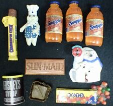 Vintage Food Advertising Magnets Collectable Coca Cola Pillsbury Snapple Candy