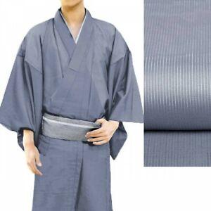 Japanese Mens Summer Kimono Thin Fabric Without Obi Bluish Purple Japan Tracking