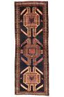 Vintage Persìan Sarab 4'x10' Blue Wool Tribal Hand-Knotted Oriental Rug
