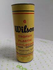 Vintage Wilson trophy plastic shuttlecock can T 8906