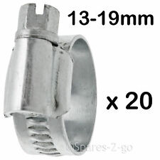 20 x Worm Drive Metal Hose Clamp Jubilee Type Steel Pipe Clip Small 13 - 19mm