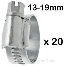 10 X Drive Worm IN METALLO TUBO MORSETTO JUBILEE TIPO tubo in acciaio CLIP PICCOLE 13 - 19mm