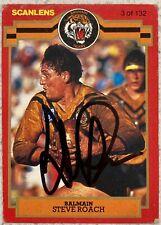 ✺Signed✺ 1986 Scanlens Stimorol Steve Roach (Balmain Tigers) NRL card