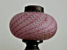 Antique Nailsea Peg Lamp Base Heavenly Pink Canberry Extra FINE With Candlestick