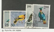India, Postage Stamp, #656-659 Used, 1975 Birds
