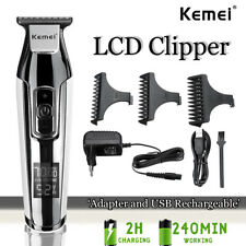 Professionell Elektrisch Haarschneidemaschine 4 Speed Schnell Ladegerät LCD Akku