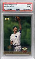 1993 Upper Deck Baseball Derek Jeter RC Rookie Card MLB Yankees HOF PSA 9 Mint