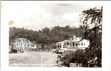 RPPC  PUENTE TAMAZUNCHALE, MEXICO  HOTEL TEXAS, & BRIDGE  c1950s Postcard