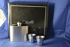 Colibri 5 oz Captive top Stainless Steel Flask Gift Set & 2 Polished Shot Cups