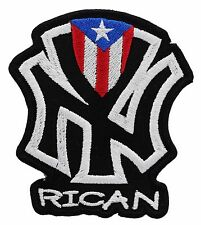 NEW YORK RICAN EMBROIDERED PATCH