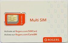 Rogers Multi SIM Card 3 in 1 Nano, Micro Standard size LTE Wireless Mobile