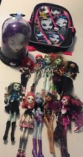 MH Mattel Monster High Doll Lot of 10 Dolls with ~ booksack ~ style head