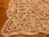 Antique Lace Tray Doily Mat Cotton Table Decor C1