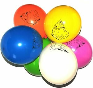 "10x 12"" Multicoloured Latex Sheep Balloons Farm Animal Patterns Birthday Decor"