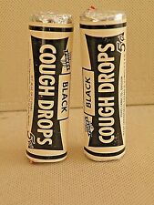 Lo #2 Foxes Black Cough Drops in  Unopened  Roll Package 1950's