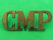 CORPS OF MILITARY POLICE - BRASS SHOULDER TITLE / BADGE