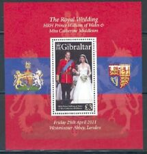 GIBRALTAR SCOTT #1283 ROYAL WEDDING  OF PRINCE WILLIAM S/S   MINT  NEVER HINGED